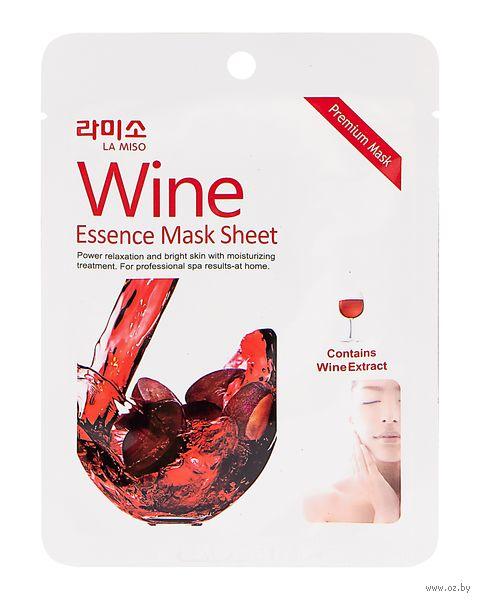 """Тканевая маска для лица """"С экстрактом красного вина"""" (21 г) — фото, картинка"""