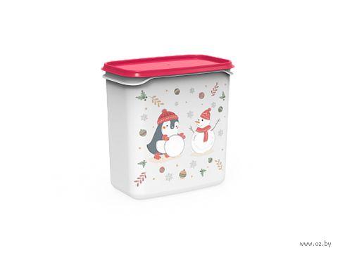 """Контейнер для хранения продуктов """"Christmas"""" (1,5 л; роза) — фото, картинка"""