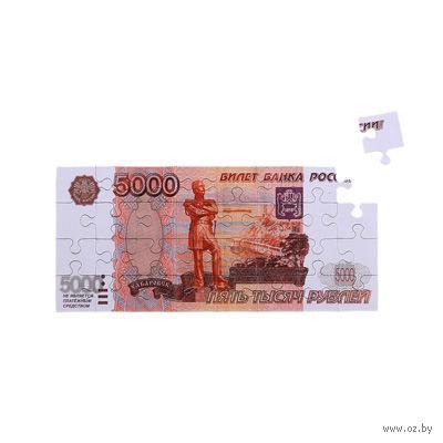 "Магнит пластмассовый ""Пазл-5000 рублей"" (70х155 мм; арт. 10416129)"