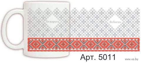 Кружка керамическая с белорусским орнаментом 330 мл. (арт. 5011)