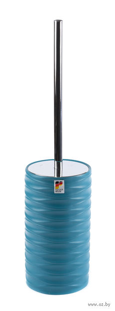 "Ершик для туалета на подставке ""Swing Turquoise"" (90х90х275 мм) — фото, картинка"
