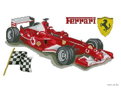 "Алмазная вышивка-мозаика ""Ferrari"" (550х350 мм) — фото, картинка"