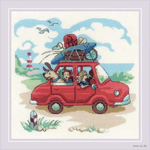 """Вышивка крестом """"Папа купил автомобиль"""" (230х230 мм) — фото, картинка"""
