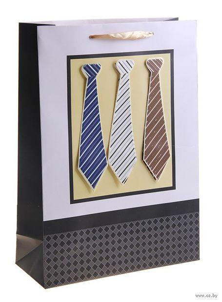 """Пакет бумажный подарочный """"Галстук"""" (15х12х5,5 см; арт. 10533779)"""