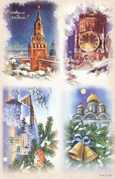 """Бумага для декупажа рисовая """"Куранты"""" (А4)"""