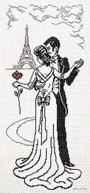 """Вышивка крестом """"Пара в Париже"""""""