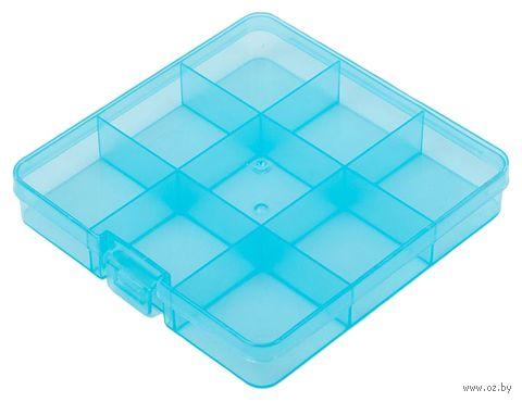 Органайзер для рукоделия (голубой; 5-9 отделений) — фото, картинка