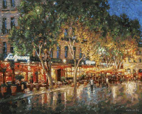 "Картина по номерам ""Ночные улицы Рима"" (400х500 мм) — фото, картинка"