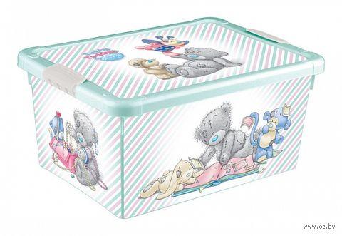 Ящик для хранения с крышкой (33,5x24x15,5 см; зеленый) — фото, картинка