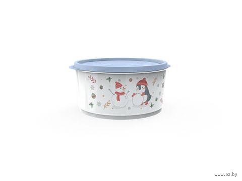 """Контейнер для хранения продуктов """"Christmas"""" (1,6 л; васильковый) — фото, картинка"""