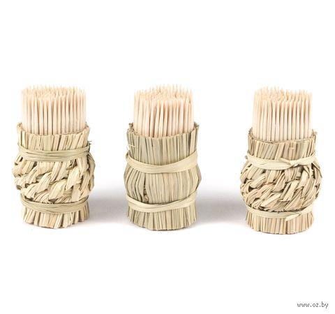 Набор зубочисток деревянных (3х150 шт.; арт. GL096) — фото, картинка