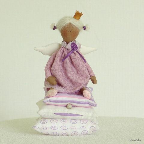 """Кукла ручной работы """"Принцесса на горошине"""" (сиреневая)"""