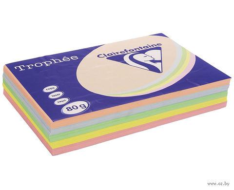 "Бумага ""Trophee. Pastel"" (А4; 100 листов; 80 г/м2; 5 цветов)"