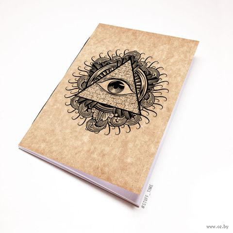 """Блокнот крафт """"Всевидящее око"""" (А7; арт. 942) — фото, картинка"""