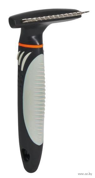 Грумер для ухода за шерстью с вращающимися зубьями (7х14 см)
