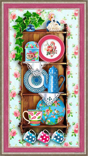 """Алмазная вышивка-мозаика """"Чайный прованс"""" (600х300 мм) — фото, картинка"""