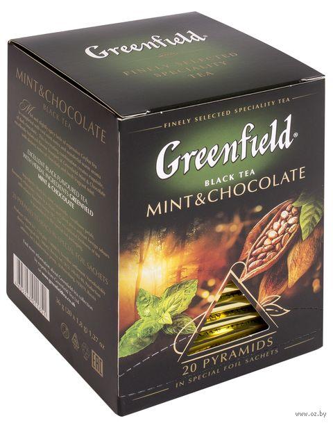 "Чай черный ""Greenfield. Mint and Chocolate"" (20 пакетиков) — фото, картинка"