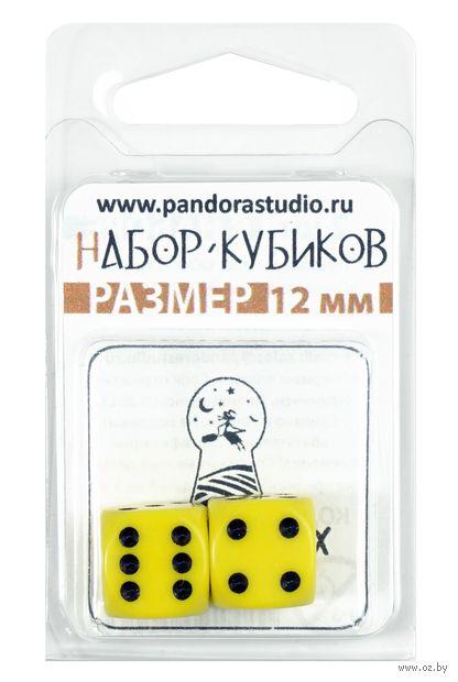 "Набор кубиков D6 ""Опак"" (12 мм; 2 шт.; жёлтый) — фото, картинка"