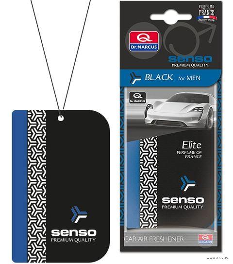 "Ароматизатор подвесной сухой ""Senso Elite"" (Black; арт. 24294) — фото, картинка"