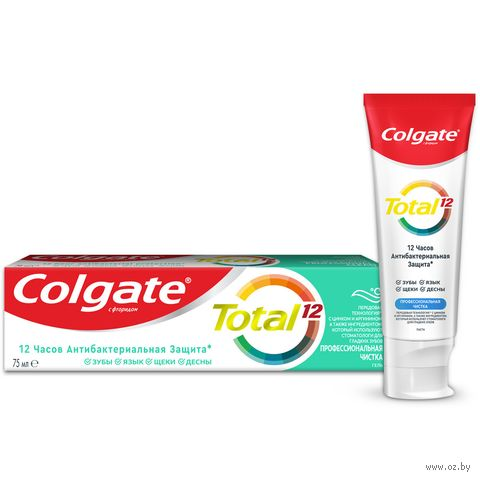 """Зубная паста """"Total 12 Антибактериальная. Профессиональная чистка"""" (75 мл) — фото, картинка"""