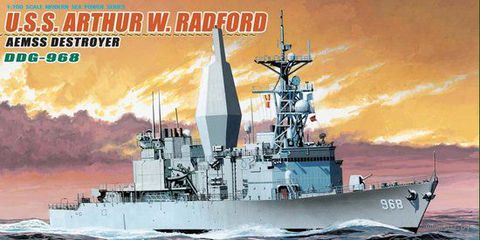 "Американский эсминец ""U.S.S. Arthur W. Radford Aemss Destroyer DDG-968"" (масштаб: 1/700)"