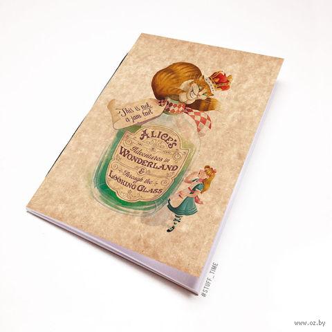 """Блокнот крафт """"Алиса в стране чудес"""" (А7; арт. 487)"""