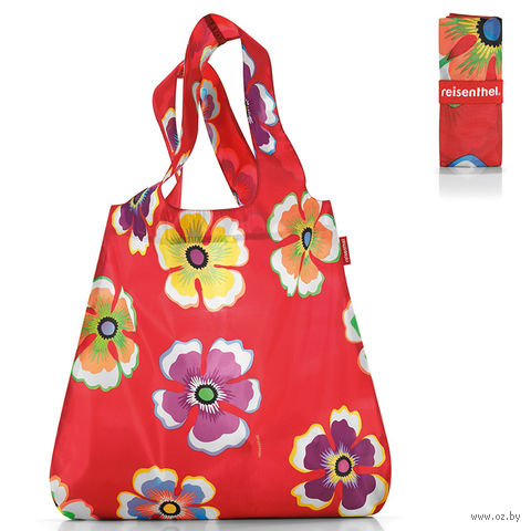 "Сумка складная ""Mini maxi shopper flowers"" (red)"