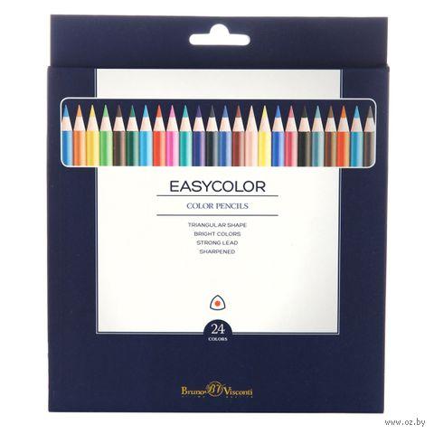 """Набор карандашей цветных """"EasyColor"""" (24 цвета) — фото, картинка"""