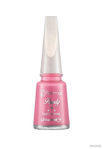 """Лак для ногтей """"Pearly Nail Enamel"""" (тон: 121, floral pink) — фото, картинка"""