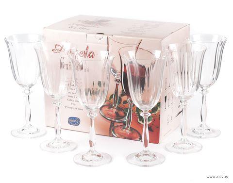 """Бокал для вина стеклянный """"Angela"""" (6 шт.; 350 мл) — фото, картинка"""