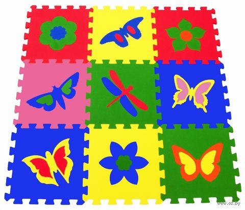 """Пазл-коврик """"Бабочки"""" (9 элементов) — фото, картинка"""