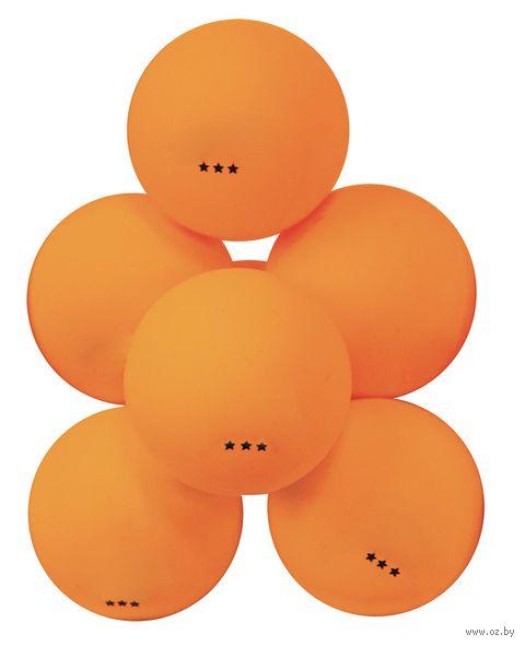 """Мячи для настольного тенниса """"ATB301"""" (6 шт.; 3 звезды; оранжевые) — фото, картинка"""