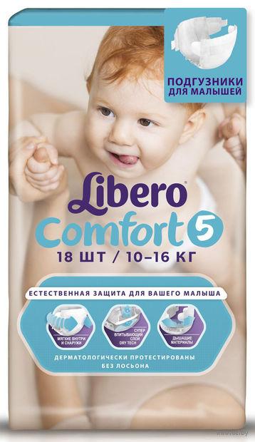 """Подгузники для детей Libero Comfort """"Maxi Plus 5"""" (10-16 кг.; 18 шт)"""