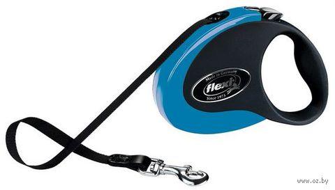 """Поводок-рулетка для собак """"Collection"""" (сине-черный, размер M, до 25 кг/5 м, арт. 11762)"""