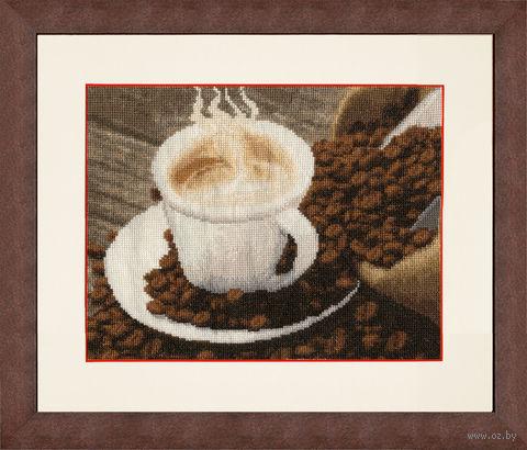 """Вышивка крестом """"Ароматный кофе"""" (177х229 мм) — фото, картинка"""