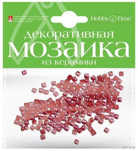 Мозаика декоративная из керамики №6 (4х4 мм; 200 шт.; красный) — фото, картинка