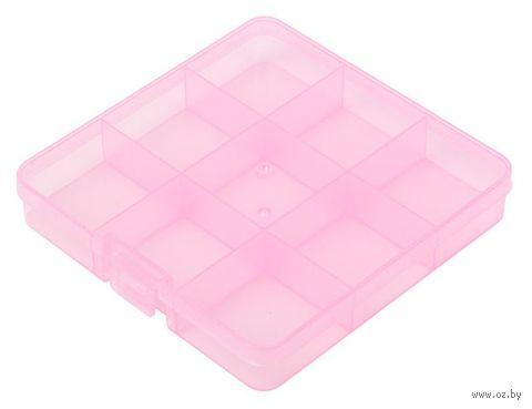 Органайзер для рукоделия (розовый; 5-9 отделений) — фото, картинка