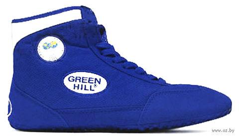 Обувь для борьбы GWB-3052/GWB-3055 (р. 38; сине-белая) — фото, картинка