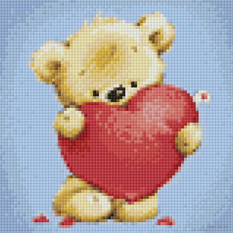 """Алмазная вышивка-мозаика """"От всего сердца"""" (200х200 мм) — фото, картинка"""