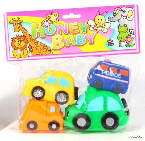 """Набор игрушек для купания """"Машины"""" (4 шт) — фото, картинка"""