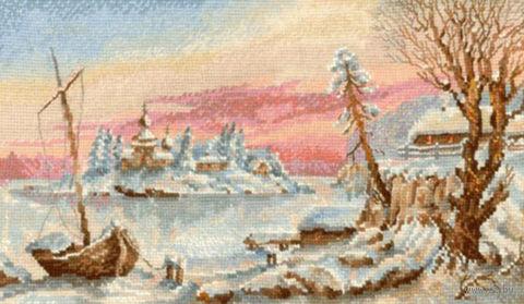 """Вышивка крестом """"Замороженный остров"""""""