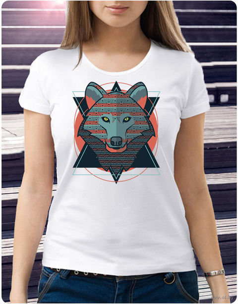 "Футболка женская ""Волк"" (размер 48; арт. 28) — фото, картинка"