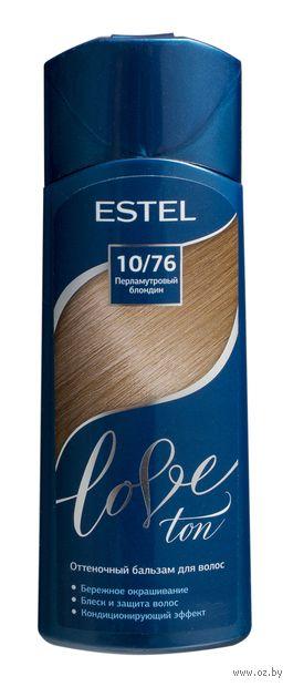 """Оттеночный бальзам для волос """"Love Ton"""" тон: 10/76, перламутровый блондин (150 мл) — фото, картинка"""
