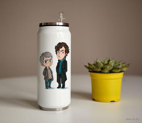 """Банка """"Шерлок и Ватсон"""" (350 мл) — фото, картинка"""