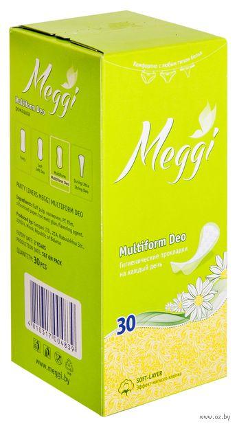 """Ежедневные прокладки """"Meggi Multiform Deo"""" (30 шт.) — фото, картинка"""