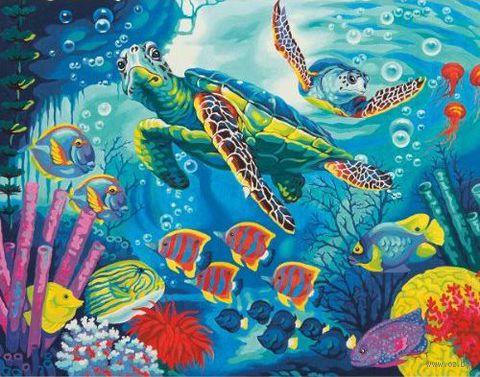 """Картина по номерам """"Морские черепахи"""" (280х360 мм; арт. DMS-73-91454)"""