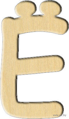 "Заготовка деревянная ""Русский алфавит. Буква Ё"" (46х79 мм)"
