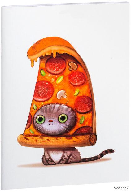 """Блокнот """"Кот-пицца"""" (А5; арт. 954) — фото, картинка"""