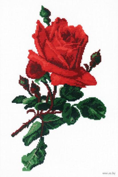 "Вышивка крестом ""Роза красная"""