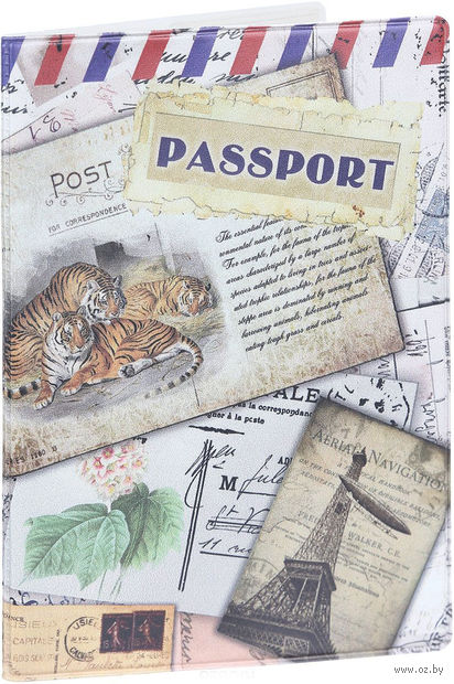 """Обложка для паспорта """"Тигры"""" (арт. 41575) — фото, картинка"""